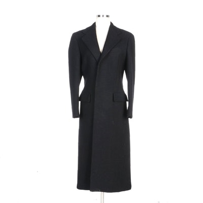 Ralph Lauren Black Wool Long Coat