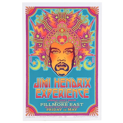 "David Edward Byrd Giclée ""Jimi Hendrix at the Fillmore East First Concept, 1968"""