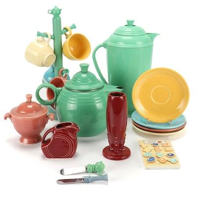 "Homer Laughlin ""Fiesta"" Coffee Pot, Teapot and Other Accessories"