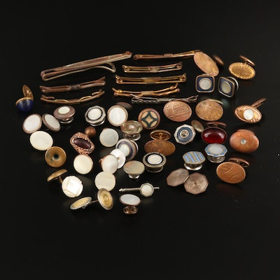 Vintage and Antique Single Cufflinks and Accessories Lot