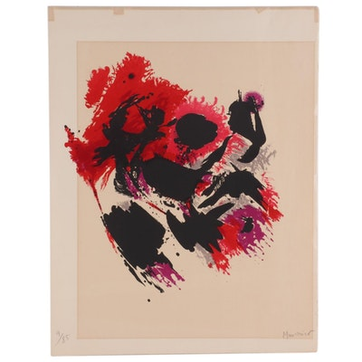 Alfred Manessier Abstract Color Lithograph, Mid-Late 20th Century
