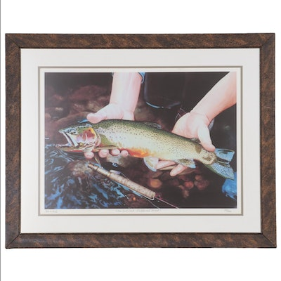 """Bob White Giclée """"One Last Look - Cutthroat Trout"""""""