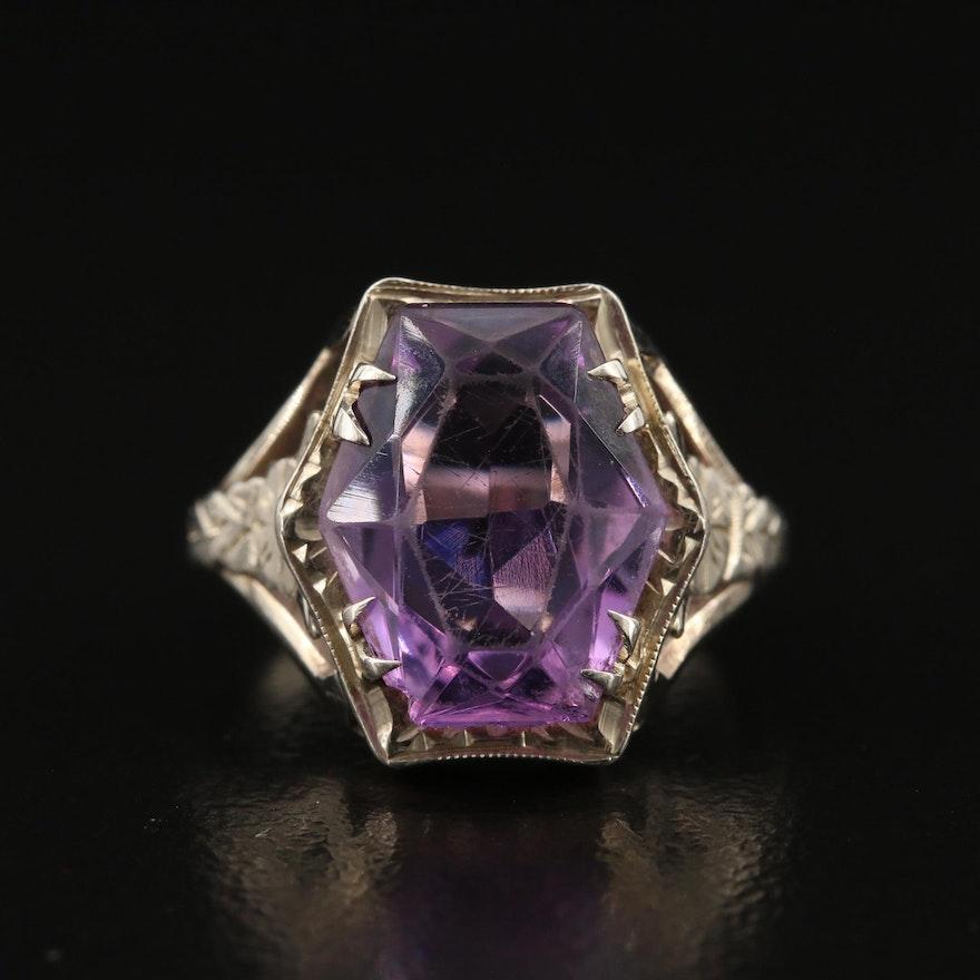 Art Deco 14K Amethyst Ring