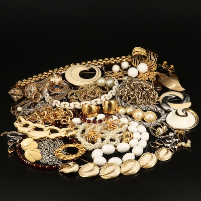 Vintage Jewelry Featuring Crown Trifari and Napier