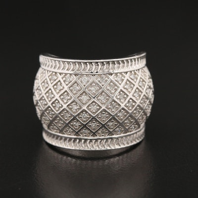 Diamond Latticework Band in Sterling