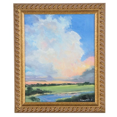 "Stephen Hedgepeth Oil Painting ""Sunrise,"" 2020"
