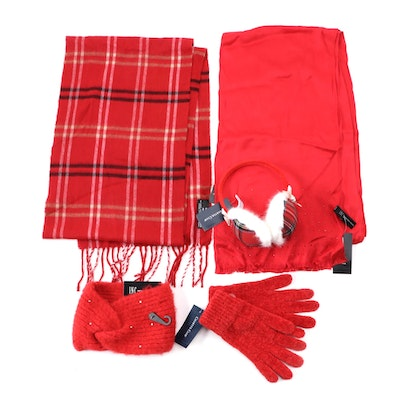 INC International Concepts, Cejon and Charter Club Red and Plaid Accessories