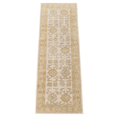 2'6 x 7'10 Hand-Tufted Ballard Designs Indian Floral Wool Carpet Runner