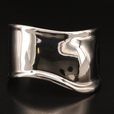 """Elsa Peretti for Tiffany & Co. """"Small Bone Cuff"""" in Charcoal Color Finish"""