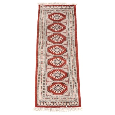 2'3 x 6'7 Hand-Knotted Pakistani Jaldar Wool Carpet Runner