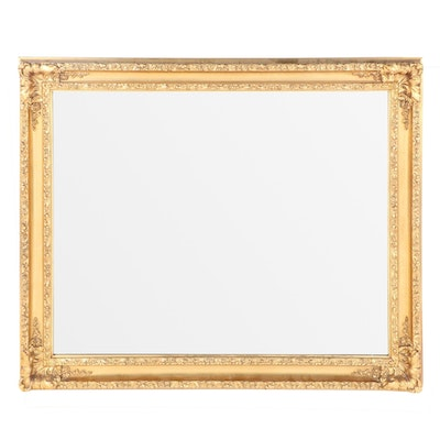Rococo Style Gilt Rectangular Wall Mirror, Mid-20th Century