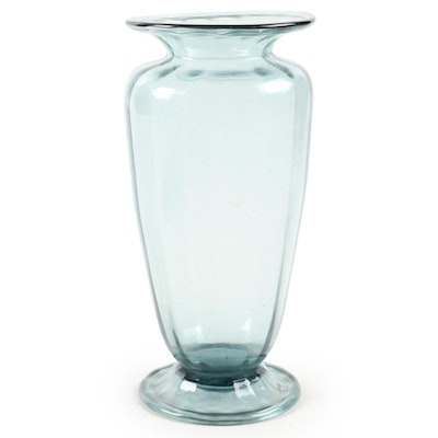 Steuben Ribbed and Footed Vase, Early 20th Century