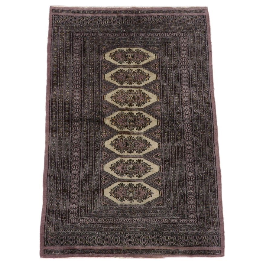 3'2 x 5'2 Hand-Knotted Russian Bokhara Wool Rug