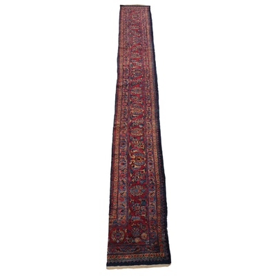 2'2 x 16'3 Hand-Knotted Persian Hamadan Wool Carpet Runner