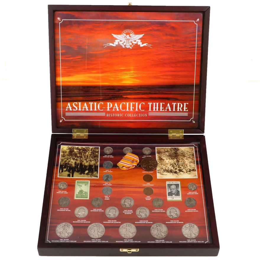 World War II Asiatic Pacific Theater Coin and Stamp Set