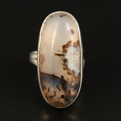 Agate Pointer Ring in Sterling