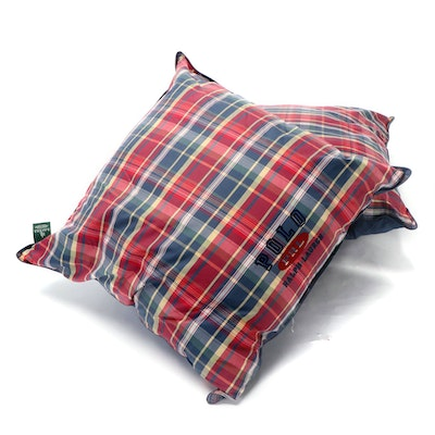Pair of Polo Ralph Lauren Plaid Printed Euro Pillows