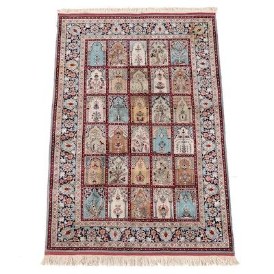 3'11 x 6'5 Hand-Knotted Persian Bakhtiari Garden Rug