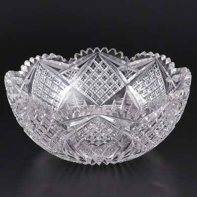 Cut Crystal Bowl, Mid to Late 20th Century