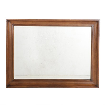 Beveled Wooden Rectangular Wall Mirror, 21st Century