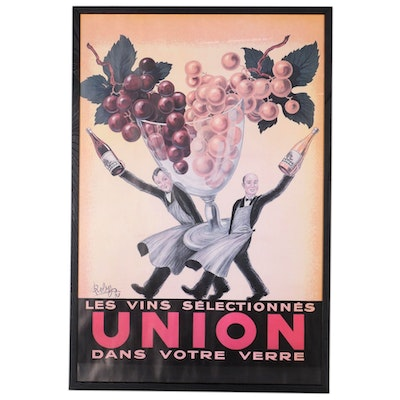 Reproduction Union Wines Advertisement after Robys