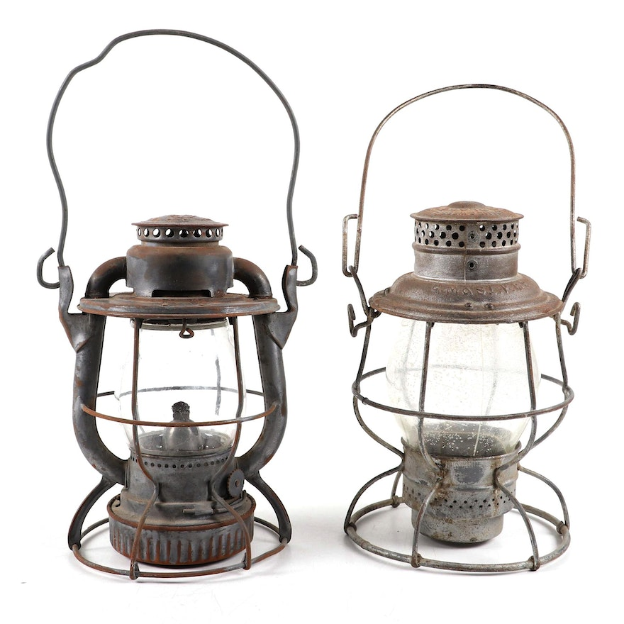 """Dietz """"Vesta"""" and Adlake Railroad Lanterns, Late 19th to Early 20th Century"""