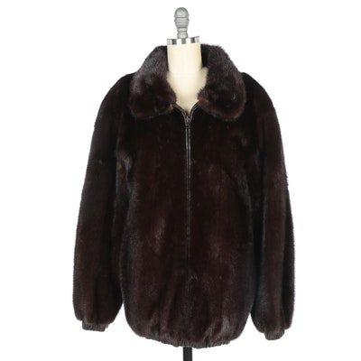 Mink Fur and Leather Reversible Coat by Birger Christensen for Saks Fifth Avenue