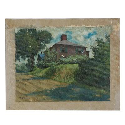 "Joseph Di Gemma Oil Painting ""Cove Hill - Rockport"""