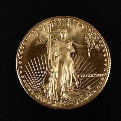 1987 $50 Gold Eagle