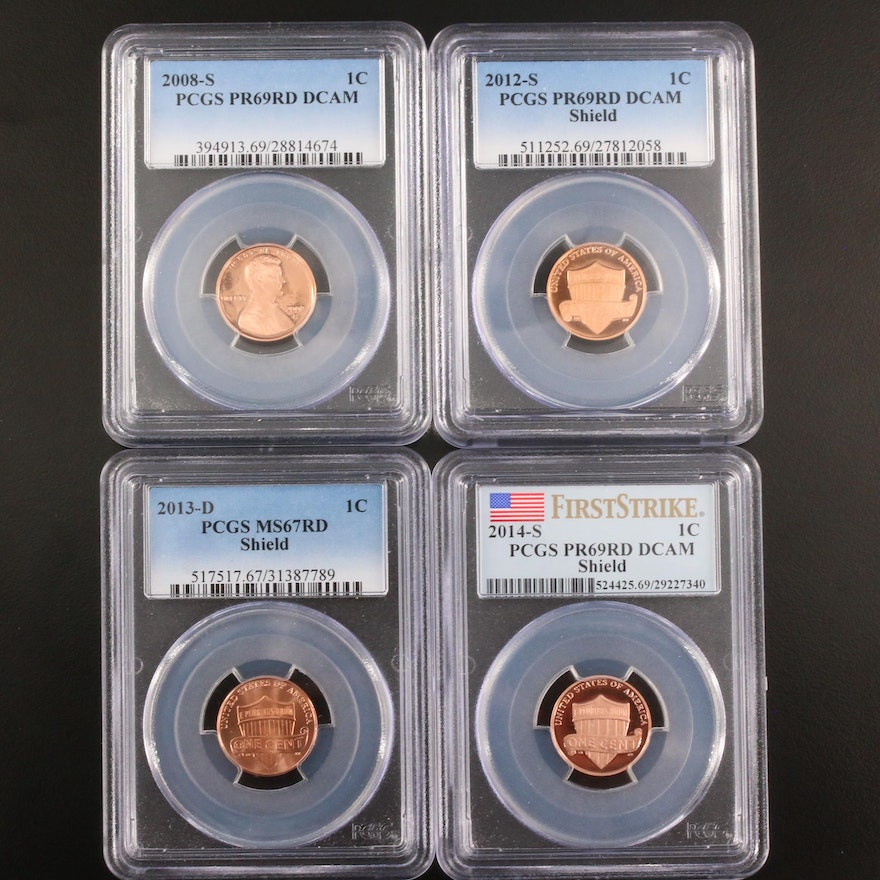 Four PCGS Graded Lincoln Cents