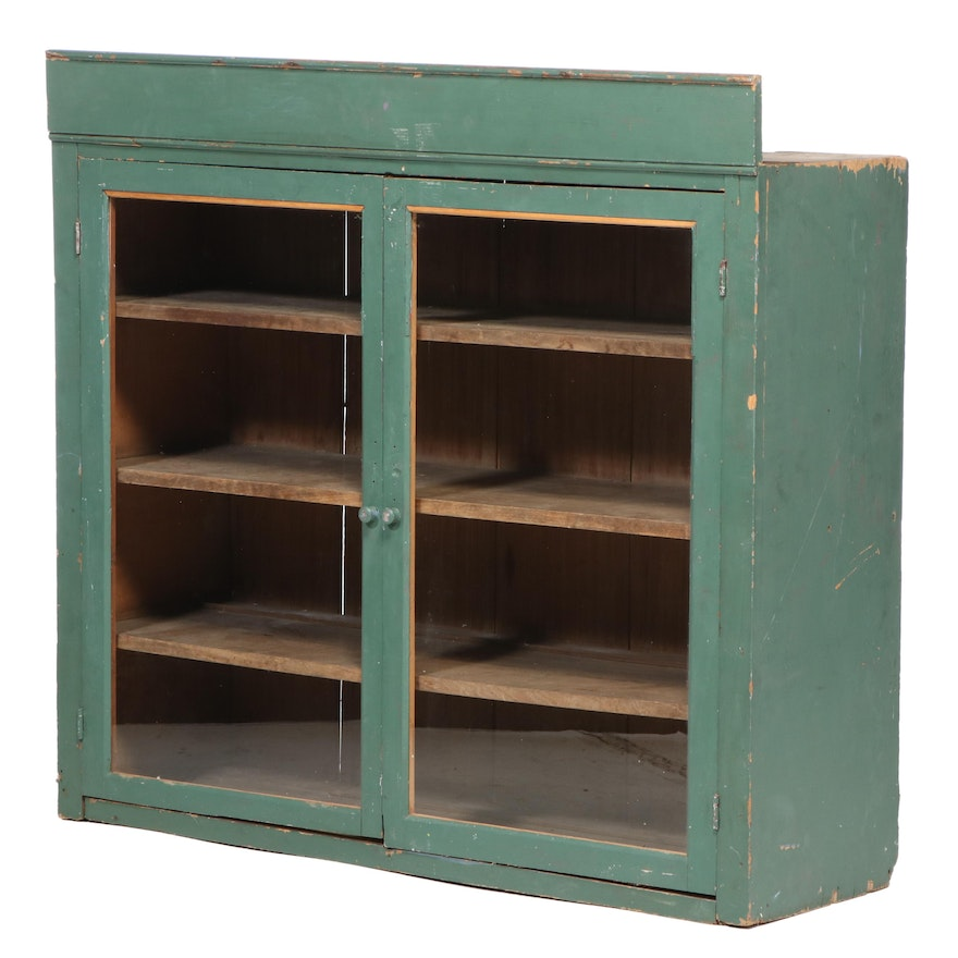 Primitive Painted Upper Cabinet