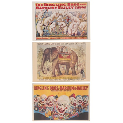Offset Lithographs after Ringling Bros. and Barnum & Bailey Posters