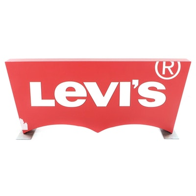 Levi's Logo Table Top Store Sign
