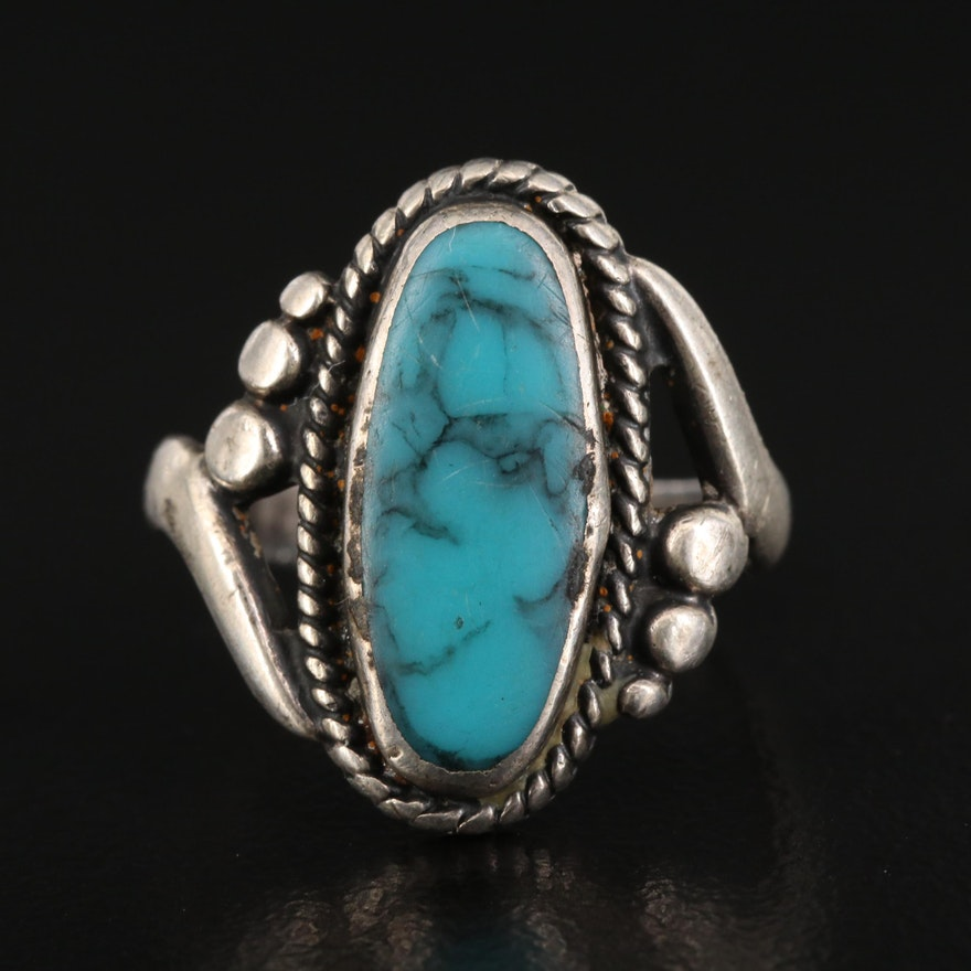 Bell Trading Post Sterling Silver Turquoise Ring