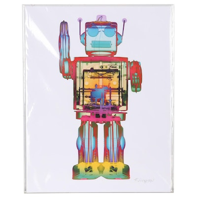 "Roy Livingston Giclée ""4N0D3 X-Ray Robot Art"""