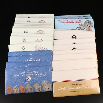 Twenty-Four U.S. Mint Uncirculated Sets