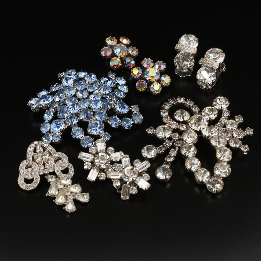 Vintage Rhinestone Jewelry Featuring Weiss