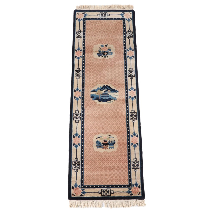 2'3 x 7'6 Hand-Knotted Grutman Chinese Wool Carpet Runner