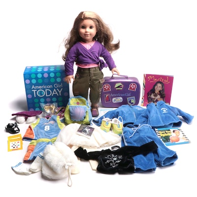 """American Girl """"Marisol"""" Doll with Additional Outfits and Luggage Set"""