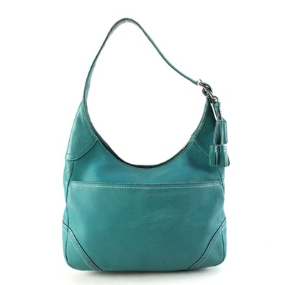 Coach Hamilton Teal Leather Hobo Bag