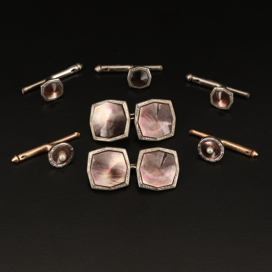 Vintage Cufflinks and Shirt Studs Featuring Larter & Sons