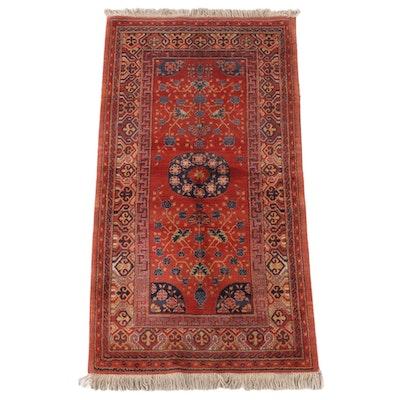 2'10 x 5'10 Power-Loomed Uzbek Style Wool Area Rug