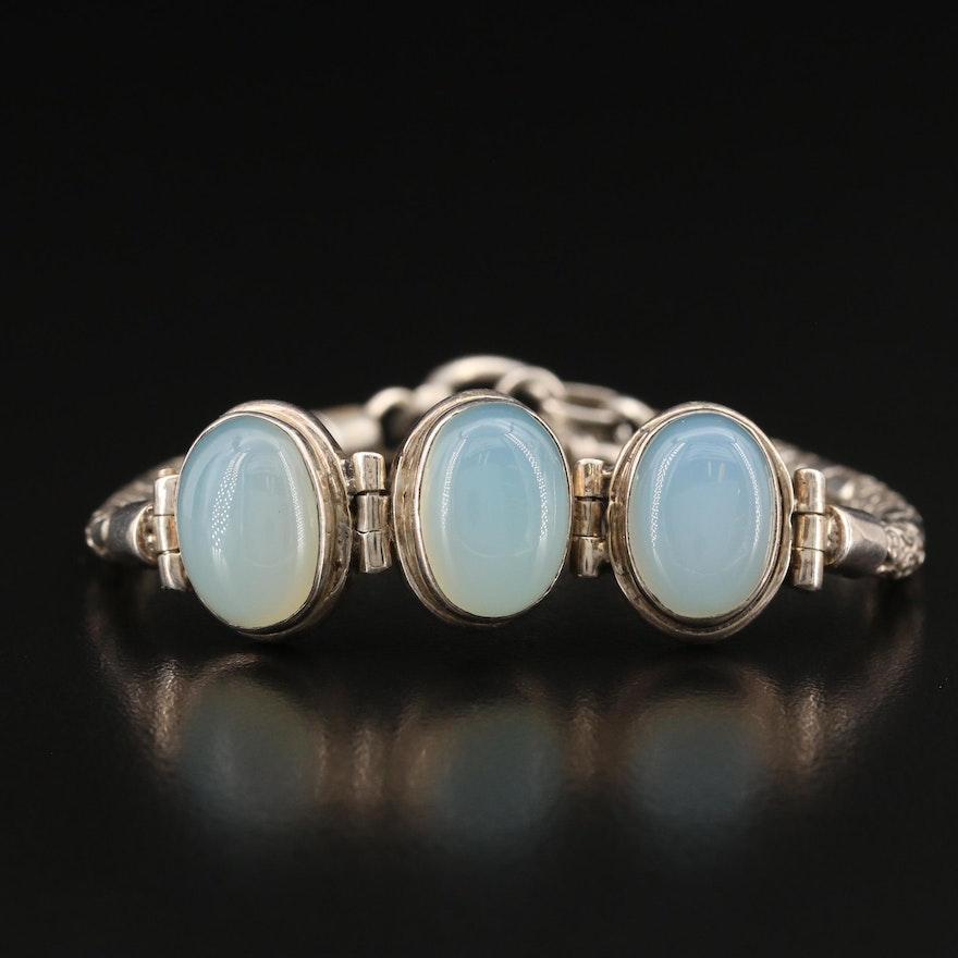 Sterling Silver Chalcedony Bracelet
