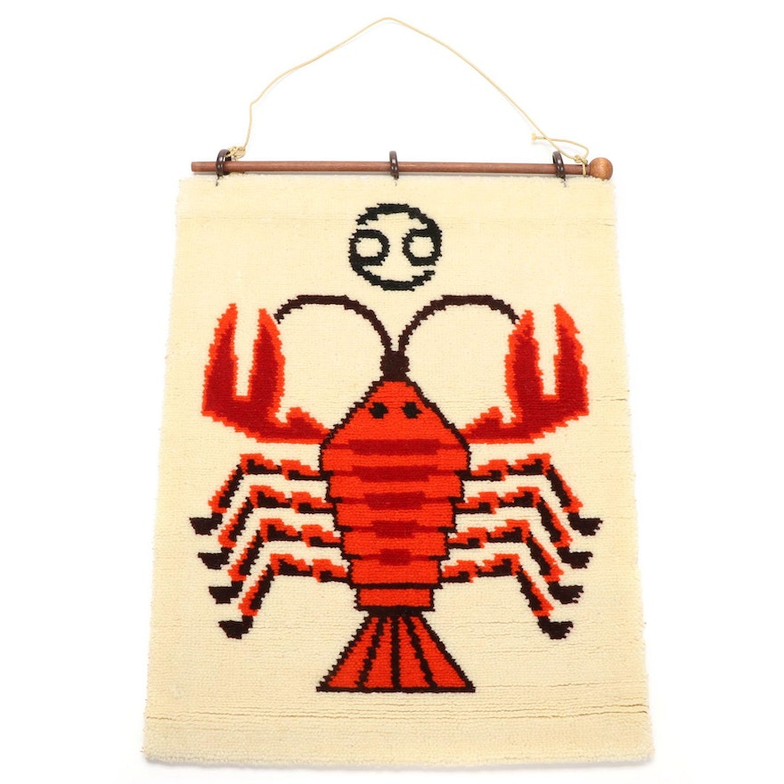 West German Montgomery Ward Zodiac Wall Hanging, Mid to Late 20th Century