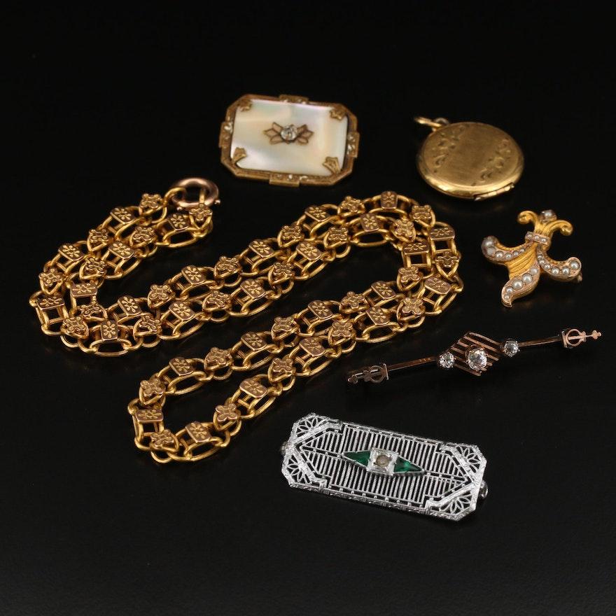 Antique and Vintage Jewelry Featuring Fleur-de-Lis
