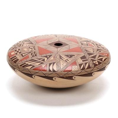 Kathleen Dewakuku Hopi Polychrome Slip Glazed Earthenware Seed Pot