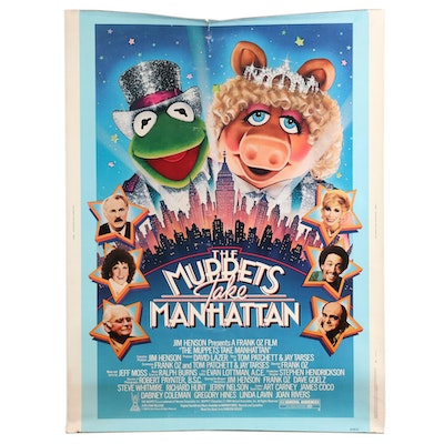 """""""The Muppets Take Manhattan"""" Halftone 30"""" x 40"""" Theatrical Release Poster, 1984"""