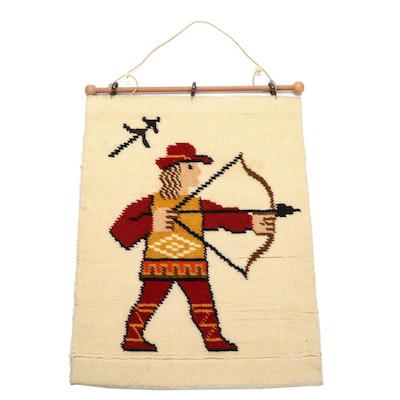 West German Montgomery Ward Zodiac Wool Wall Hanging, Mid to Late 20th C.