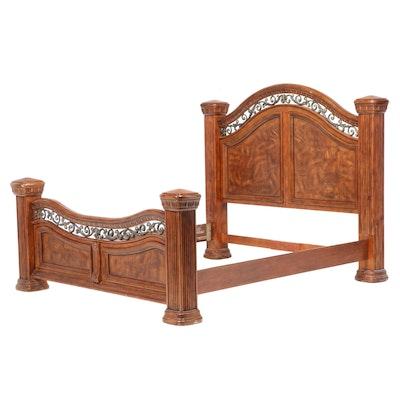"""Wynwood """"Cordoba"""" Pine and Burled Ash King Size Bed Frame"""