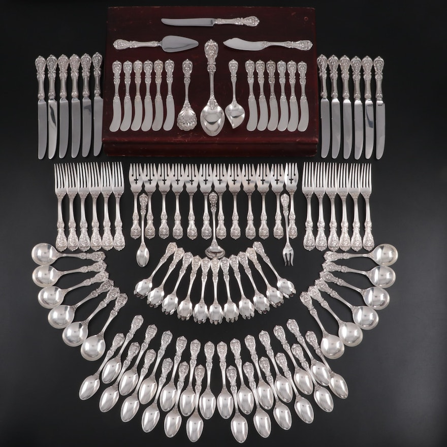 """Reed & Barton """"Francis I"""" Sterling Silver Flatware Set with Chest"""